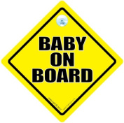 Baby On Board Sign, Baby on Board, Yellow, Traditional Baby On Board Sign, Unisex Baby On Board Sign, Baby Sign, Decal, Bumper Sticker, Grandchild On Board, Maternity Sign, New Baby Sign, Baby In Car Sign
