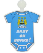 Manchester City FC Kit Baby On Board Sign