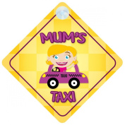 Mum's Taxi Car Sign Funny Novelty Gift / Present Baby on Board Style Sign
