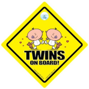 Twins On Board, Twins on Board Car Sign New Bear, Baby Sign, Car Sign, Baby On Board, Twins Car Sign, Bumper Sticker