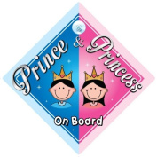 Prince & Princess On Board Car Sign, (1), Prince On Board, Princess On Board, Prince Boy, Princess Girl, Car Sign, Baby On Board Sign, Baby on board, Novelty Car Sign, Baby Car Sign