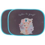 Sophie The Giraffe Baby Car Sun Blinds Shades 2 Pack