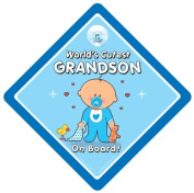World's Cutest Grandson On Board, World's Cutest Grandson Car Sign, Baby On Board Sign, Baby on Board, Decal, Bumper Sticker, baby Sign, Baby Car Sign, Grandchildren Sign, Novelty Car Sign