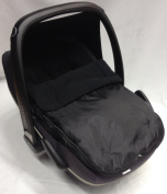 Universal Car Seat Footmuff To Fit Maxi Cosi Pebble Black