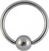 Surgical Steel BCR - nipple ring - Eyebrow - Ear - Piercing - Body jewellery - Available in sizes 6mm to 16mm - 2 pieces in one plastic bag.
