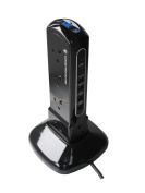 Masterplug SRPTU102PB USB Charging Surge Protected 2 m Extension Lead Power Tower with 10 Sockets