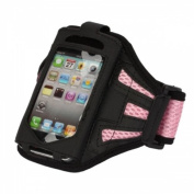 King of Flash iPhone 5 iPhone 5S iPhone 5C Strong Mesh Pink ArmBand Case Cover For Sports GYM Bike Cycle Jogging - Tie Phone With Your Arm