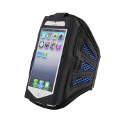 King of Flash iPhone 5 iPhone 5S iPhone 5C Strong Mesh Blue ArmBand Case Cover For Sports GYM Bike Cycle Jogging - Tie Phone With Your Arm