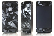 SAMAR® - Supreme Quality 3D Bling Crystal Clear Matte Diamond Screen Guard Protector (Pack of 2) Sticker FRONT & BACK For IPhone 4 4S
