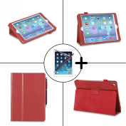 TeckNet® New Apple iPad Air, iPad 5 (Released November 2013) Premium Folio PU Leather Case / Cover / Wallet and Flip Stand With Built-in Magnet For Standby Sleep / Wake Feature + 1 Included Screen Protector and Stylus Pen for New Apple iPad Air 5th Ge ..