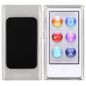 Clear TPU Rubber Soft Skin Cover Case with Belt Clip For iPod Nano 7 7G 7th Gen