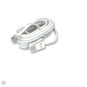 Ex-Pro 5m Telephone cord cable lead RJ11 to BT Plug, suitable for Sky box connexion - White. [Crossed 6P4C]