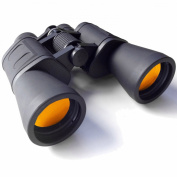 Serious User Ruby Lens Black High Power Binoculars 10x50 Special Anti Glare Fully Coated Optics Lightweight alloy body. Ideal for Sports, Wildlife and Astronomy. 10 x 50 High Power Magnification with case, lens caps, strap, cloth & Free Warranty.