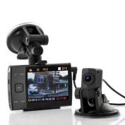 BW® 8.9cm Display HD 720p Dual Camera (forward and rear view) Car DVR video recorder S3000L