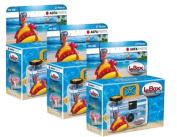 3pcs Agfa Le Box Ocean Waterproof Single Use Camera 400asa 27 exposure