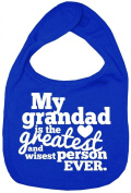 Dirty Fingers, My Grandad is the Greatest, Boy Girl Feeding Bib, Royal Blue