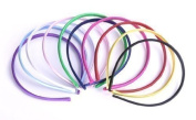 Style Nuvo - SET of 10 Satin Covered Alice Band Head hairbands Plain Daywear Multi-colours