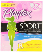 Playtex Sport Unscented Regular Tampons, 18-Count Box