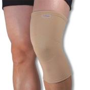 Medical Grade Elastic Compression Knee Support Beige Tubular Sleeve - Large = 38-42cm