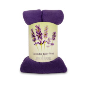 Lavender Body Wrap - Microwavable Wheat Bag - Purple Fleece