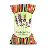 Zhu-Zhu Lavender Body Wrap - Microwavable Wheat Bag - Striped Cotton