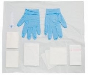 Premier Polyfield Patient Dressing Pack with Nitrile AF Gloves, Medium, Pack of 20