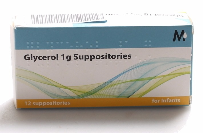 Glycerin (Glycerol) Suppositories Bp 1g Infant's Size