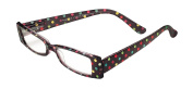 Sight Station Paige Black/Dots Reading Glasses Strength 2.5
