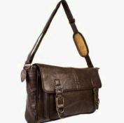 Ladies Soft Leather Satchel Handbag / Shoulder Bag with Adjustable Shoulder Strap