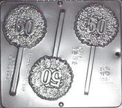 50TH CHOCOLATE LOLLIPOP MOULD