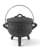 Superior Quality, Cast Iron Pentagram Cauldron
