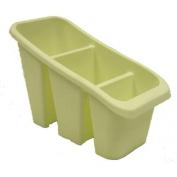 Cream Plastic Cutlery Holder Sink Tidy Drainer Organiser Rack Spoon Utensil Holder