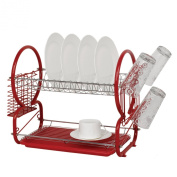 SQ Professional Ltd Dish drainer and cutlery rack - red