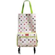 Sabichi Candy Spot Fold Away Shopping Trolley with Wheels