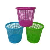 Plastic Waste Paper Basket Bin Kitchen Office Bathroom in Blue