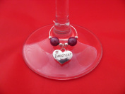 Individual ' Daughter ' Wine Glass Charm by Libby's Market Place