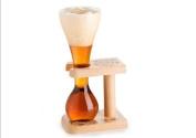 Kwak Belgian Beer Glass & Wooden Stand