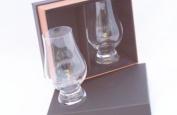 1.9ly - Glencairn Whisky Tasting Nosing Glasses in The New Twin Black/Gold Presentation Box-