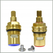 GI Universal Replacement Brass ceramic disc tap valve insert gland cartridge quarter turn