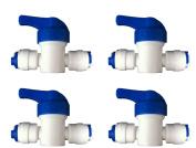 0.6cm INLINE TAP / SHUT-OFF VALVE / ISOLATION VALVE FOR 0.6cm LLDPE FRIDGE FREEZER / REVERSE OSMOSIS WATER filter SYSTEM WATER PIPE TUBING
