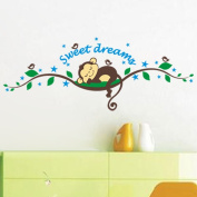 Animal Monkey Wall Stickers With Decor Decal Art For Kids Nursery Bedroom