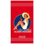 CTI 041411 Beach Towel Coca Cola Pin Up Cotton Velours 85 x 160 cm