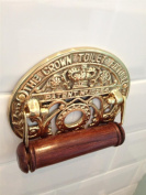 Quality Vintage Antique style solid brass Toilet Roll Holder wall mounted Loo Paper dispenser