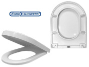 EuroShowers ONE Series Long D Shaped Toilet Seat - Soft Close + Quick Release