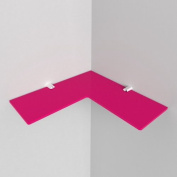 250mm Acrylic Corner Safety Shelf - bathrooms, bedrooms, offices, Free Trolley Token Material Sample Included per Shipment, Pink