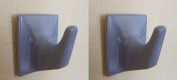 Grey Self Adhesive Hooks - MS53-Square Shaped-Ideal For Tube or Slat Type Blind/Fly Curtain/Strip Blind