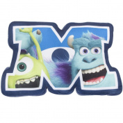 Character World Disney Monsters Inc University Shaped Plush Cushion, Multi-Colour