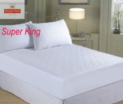 QUILTED MATTRESS PROTECTOR, SINGLE DOUBLE KING SUPER KING - FITTED MATTRESS COVER