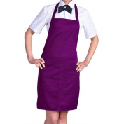 Plain Apron with Front Pocket Kitchen Cooking Craft Baking Purple