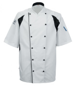 Le Chef De11 Staycool Jacket White With Black Coolmax Panels